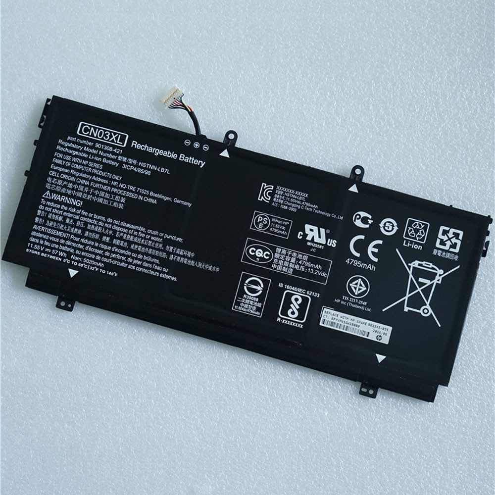 57.9Wh/5020mAh 11.55V CN03XL Replacement Battery for HP 13-AB001 13-AB099 13T-AB000 901308-421 HSTNN-LB7L