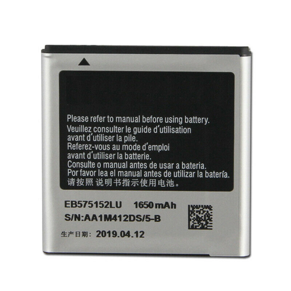 1650mAh/6.11WH 3.7V/4.2V EB575152LU Replacement Battery for Samsung I9000 I589 I8250 I919U I9003