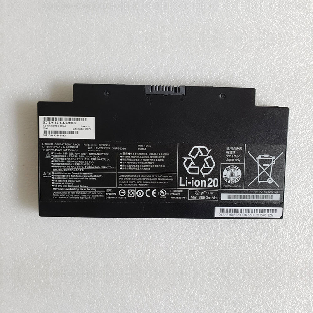 45Wh/4170mAh 10.8V FPCBP424 Replacement Battery for Fujitsu AH77/S/M AH556 FMVNBP233 Series
