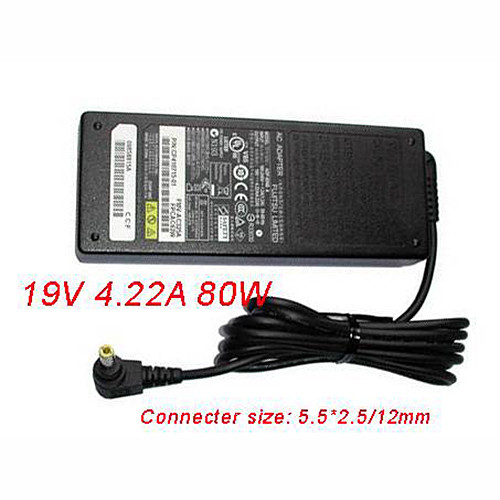 Charger Adapter and Cord for 80W Power AC Charger Adapter for Fujitsu LifeBook A3110 A3120 A3130