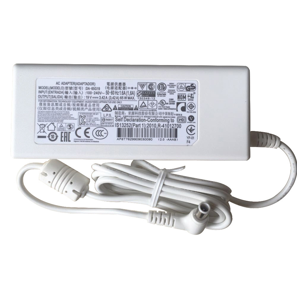 Charger Adapter and Cord for White LG Innotek PSAB-L101A DA-48F19 32MB24
