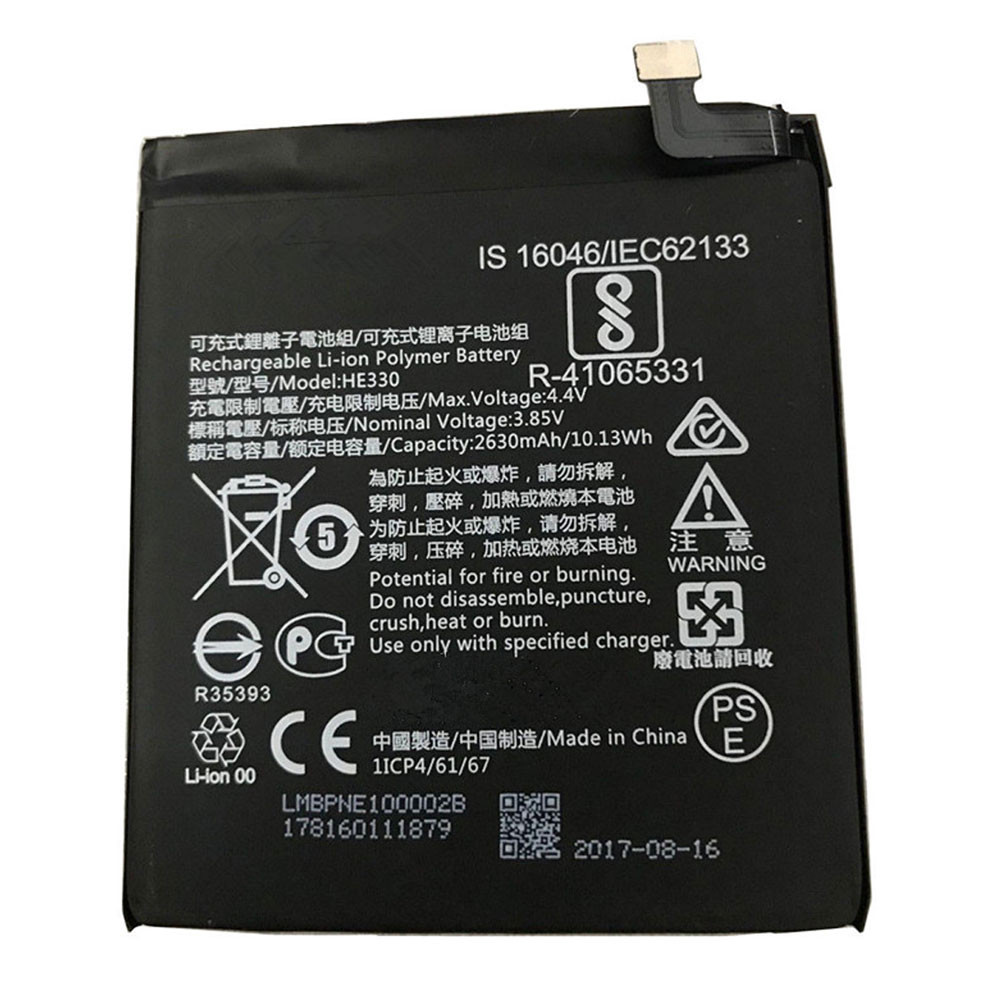 2630MAH/10.13WH 3.85V/4.4V HE330 Replacement Battery for Nokia 330