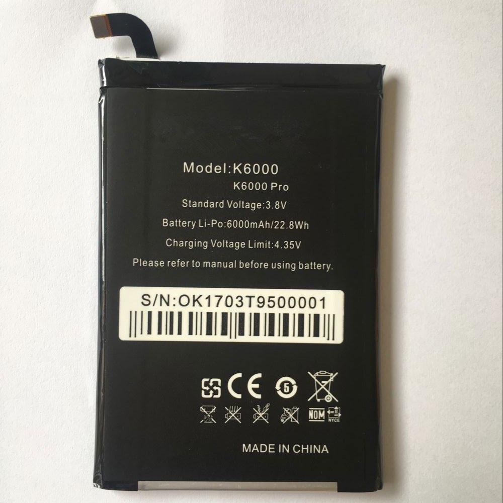 6000mAh/22.8WH 3.8V/4.35V K6000 Replacement Battery for oukitel K6000/K6000 PRO
