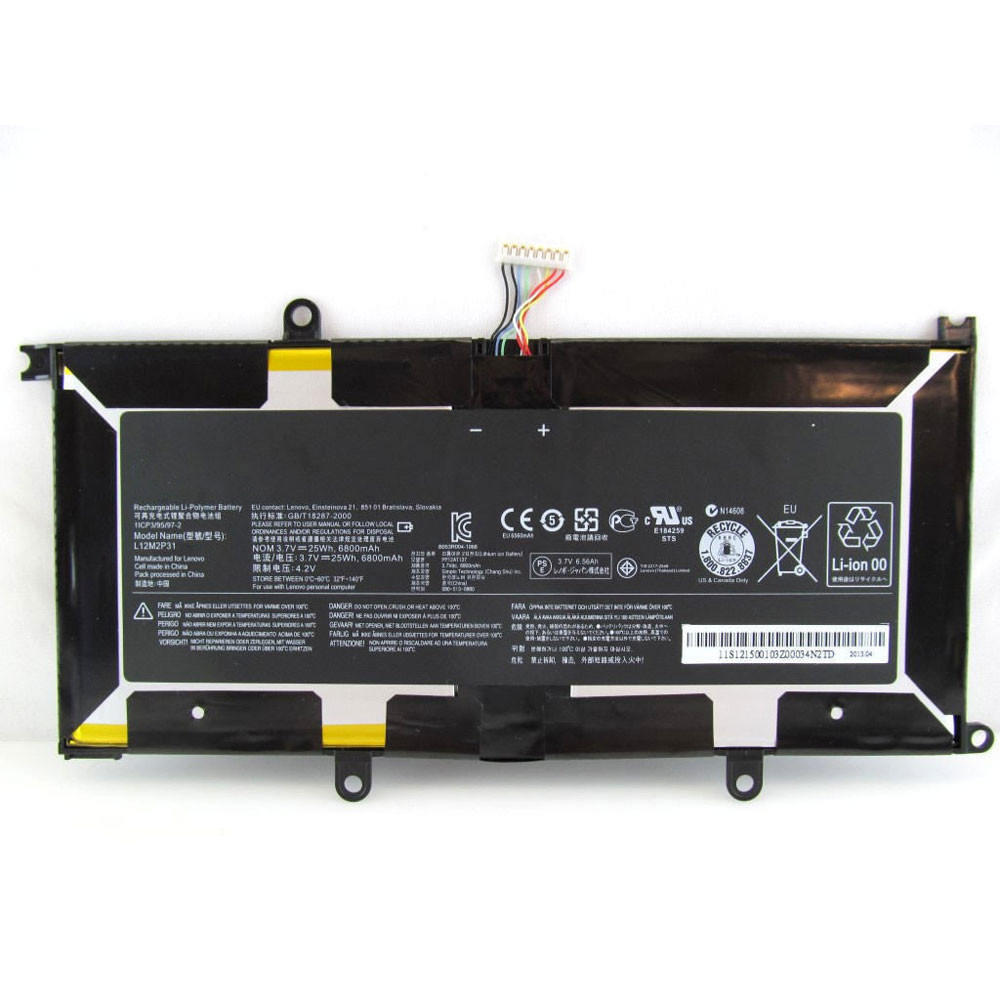 6800mAh/25WH 3.7V/4.2V L12M2P31 Replacement Battery for Lenovo K3011W Series