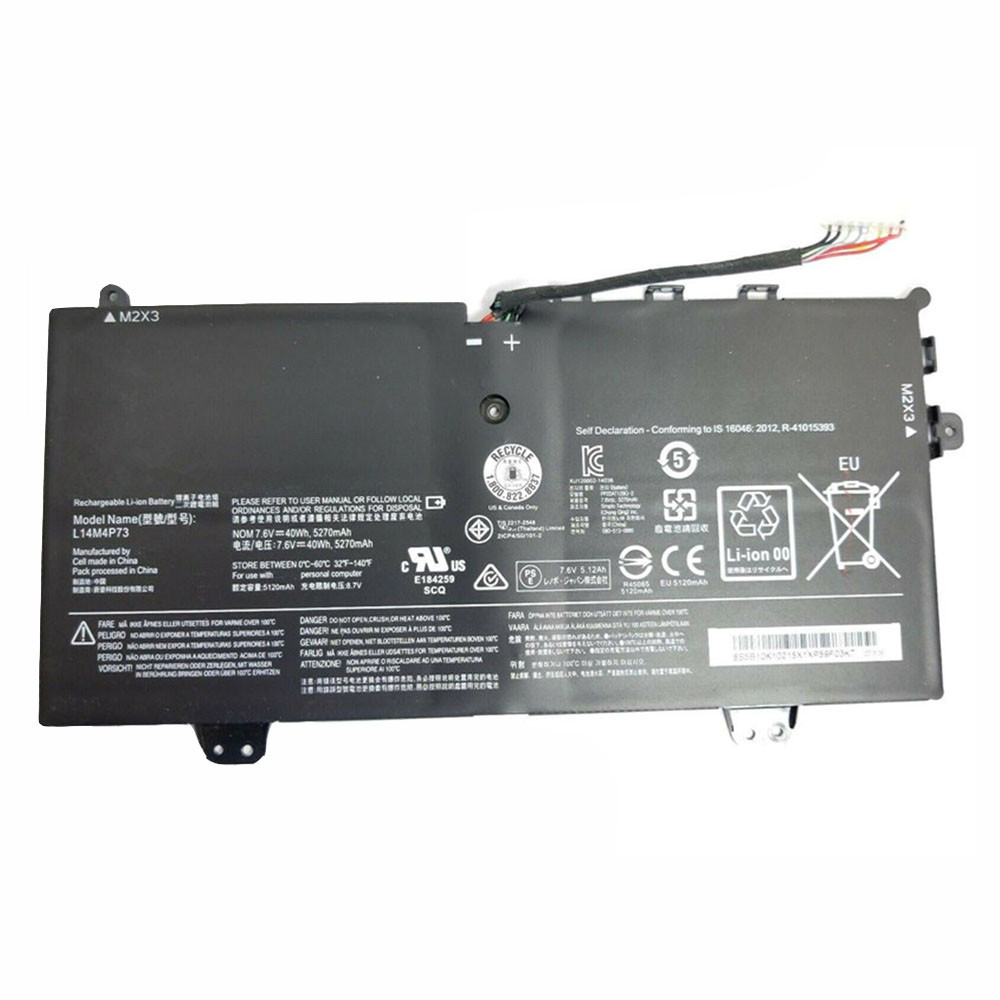 5270mAh/40WH 7.6V/8.7V L14M4P73 Replacement Battery for Lenovo Yoga 700 YogaPad 700-11isk