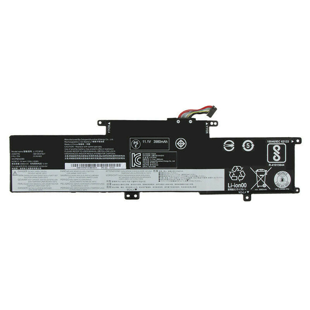 4120mAh/45WH 11.1V/12.6V L17L3P53 Replacement Battery for Lenovo ThinkPad S2 L380 Yoga