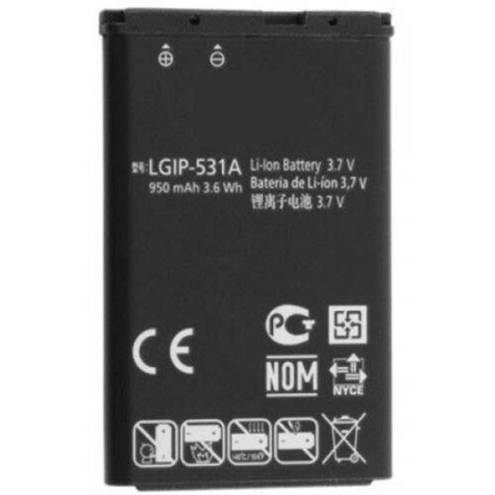 950mAh/3.6WH 3.7V LGIP-531A Replacement Battery for LG KX190 KX191 KX216 KX218 KU250 T500
