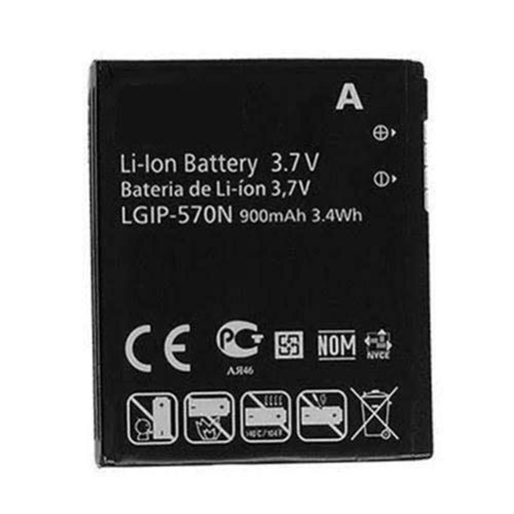 900mAh/3.4WH 3.7V LGIP-570N Replacement Battery for LG GM310 KV600 KV800 GD570 DLITE GS505 SENTIO