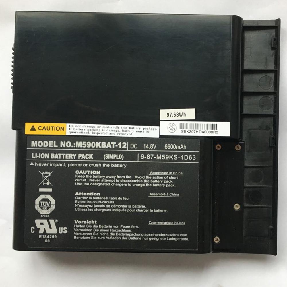 6600mah Clevo M59 M59K M59KE M590 M590K M590KE 87-M59KS-4D63 Replacement Battery M590KBAT-12 14.8V