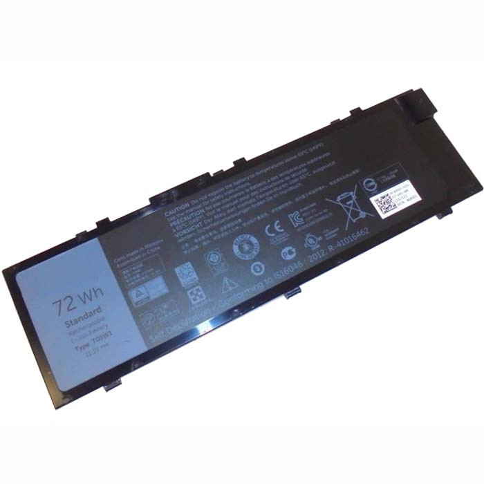 72Wh/6460mAh DELL Precision 7710 M7710 Replacement Battery T05W1 11.1V