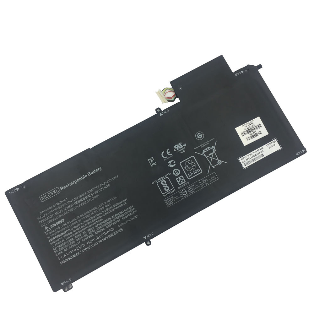 42Wh 11.4V ML03XL Replacement Battery for HP Spectre x2 12-A001DX