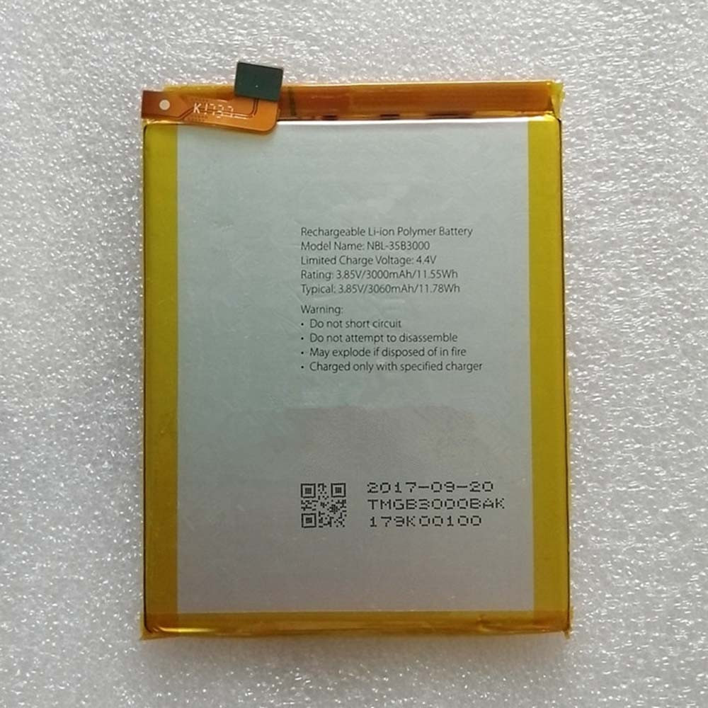 3000Mah 11.55Wh 3.85V/4.4V NBL-35b3000 Replacement Battery for TP-Link Neffos NBL-35b3000