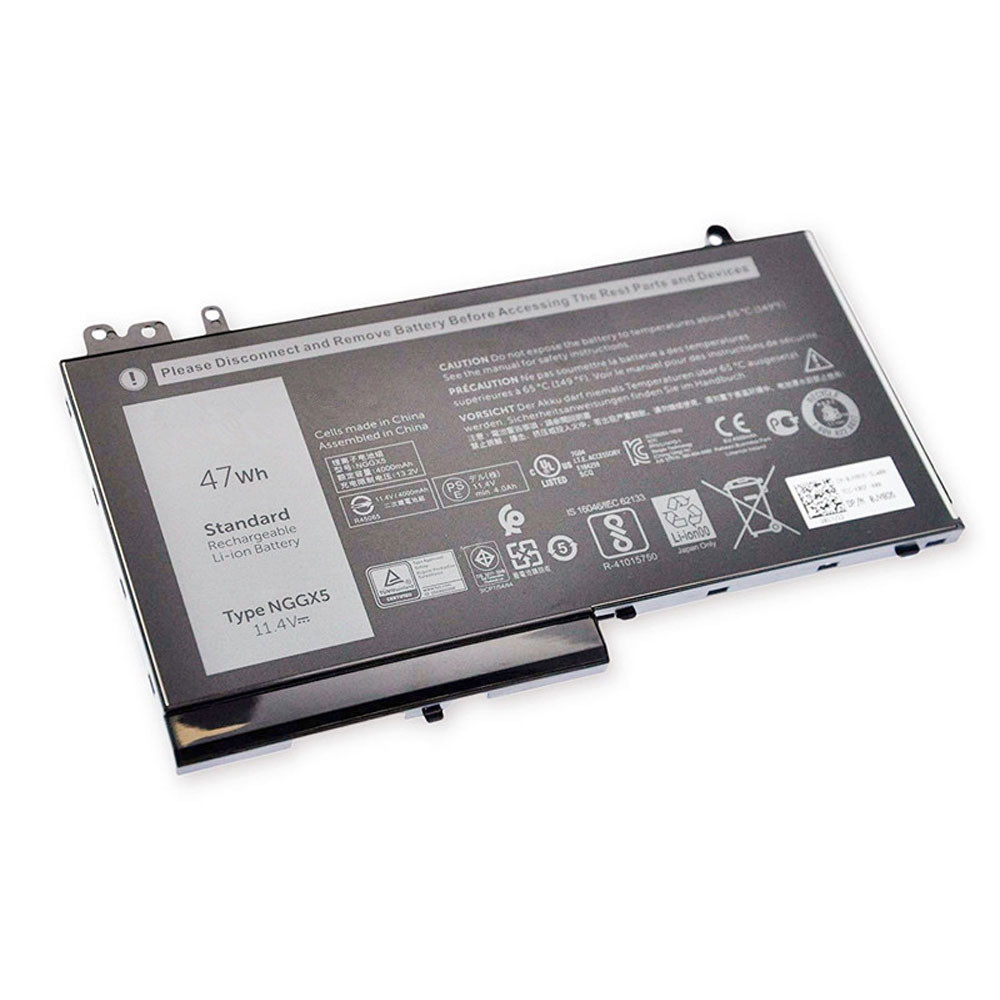 4130mAh/47WH 11.4V/13.35V NGGX5 Replacement Battery for Dell Latitude E5570 E5250 E5270 E5470 JY8D6