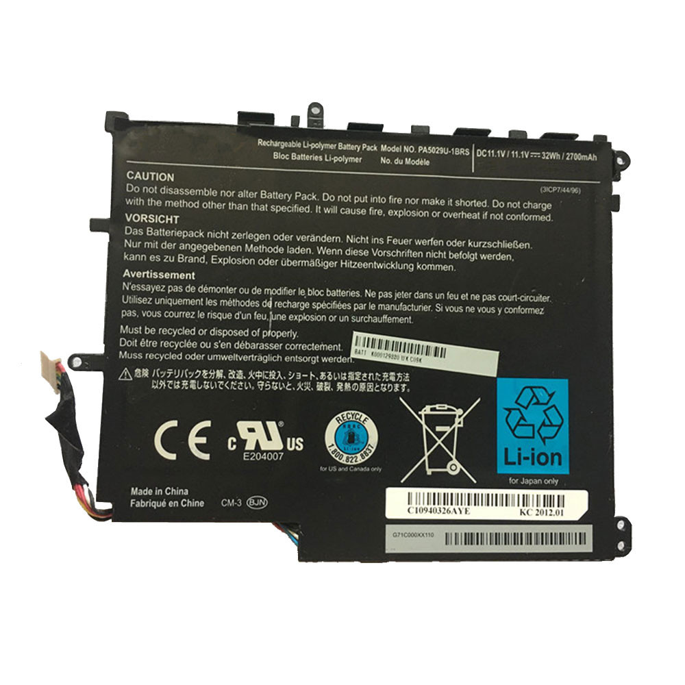 2700mah/32Wh 11.1V PA5029U-1BRS Replacement Battery for Toshiba satellite PA5029U-1BRS