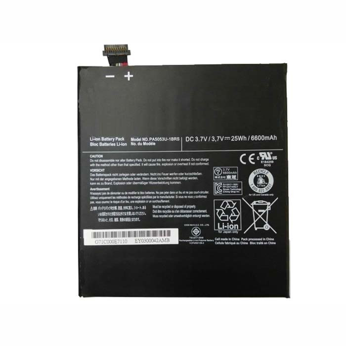 6600mah Toshiba Excite 10 Tablet Replacement Battery PA5053U-1BRS 3.7V