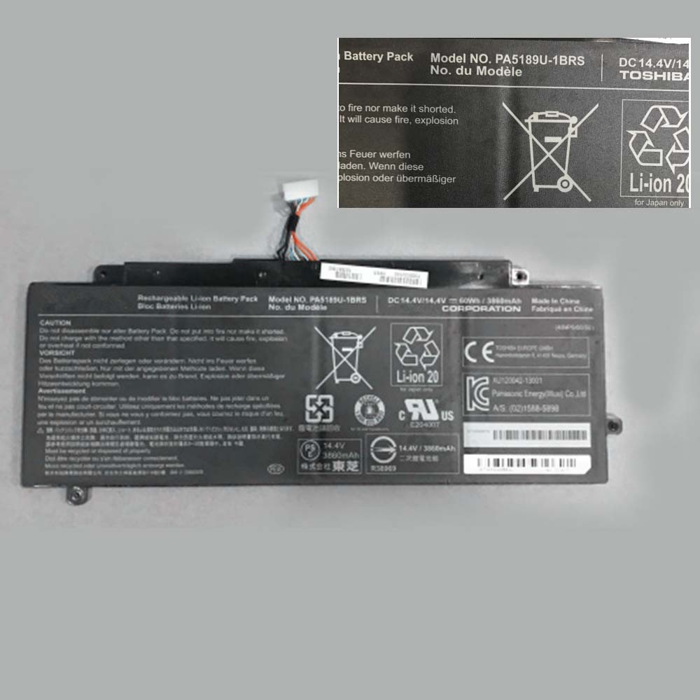 3680MAH/60WH 14.8V PA5189U-1BRS Replacement Battery for Toshiba P50W P55W P55W-B5224