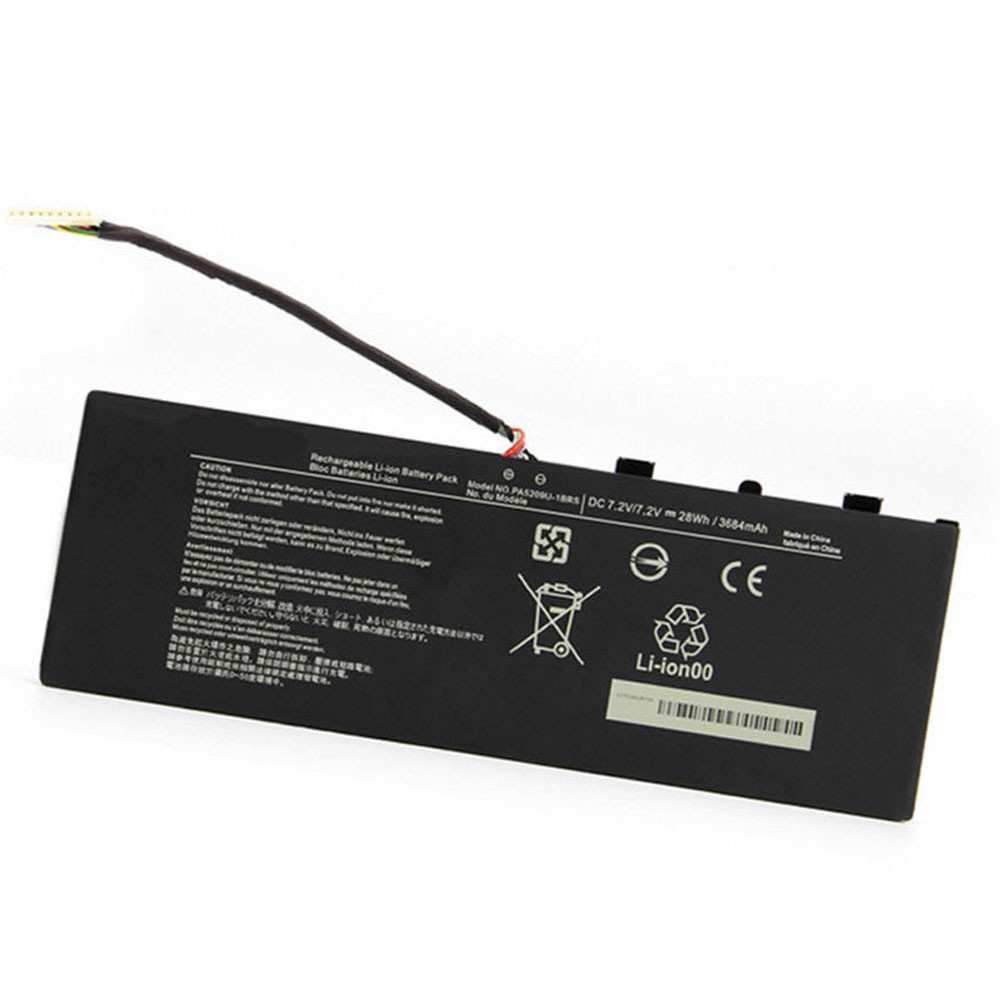 28Wh/3684mAh Toshiba Radius 11.6 L15W-B1302 Replacement Battery PA5209U-1BRS 7.2V