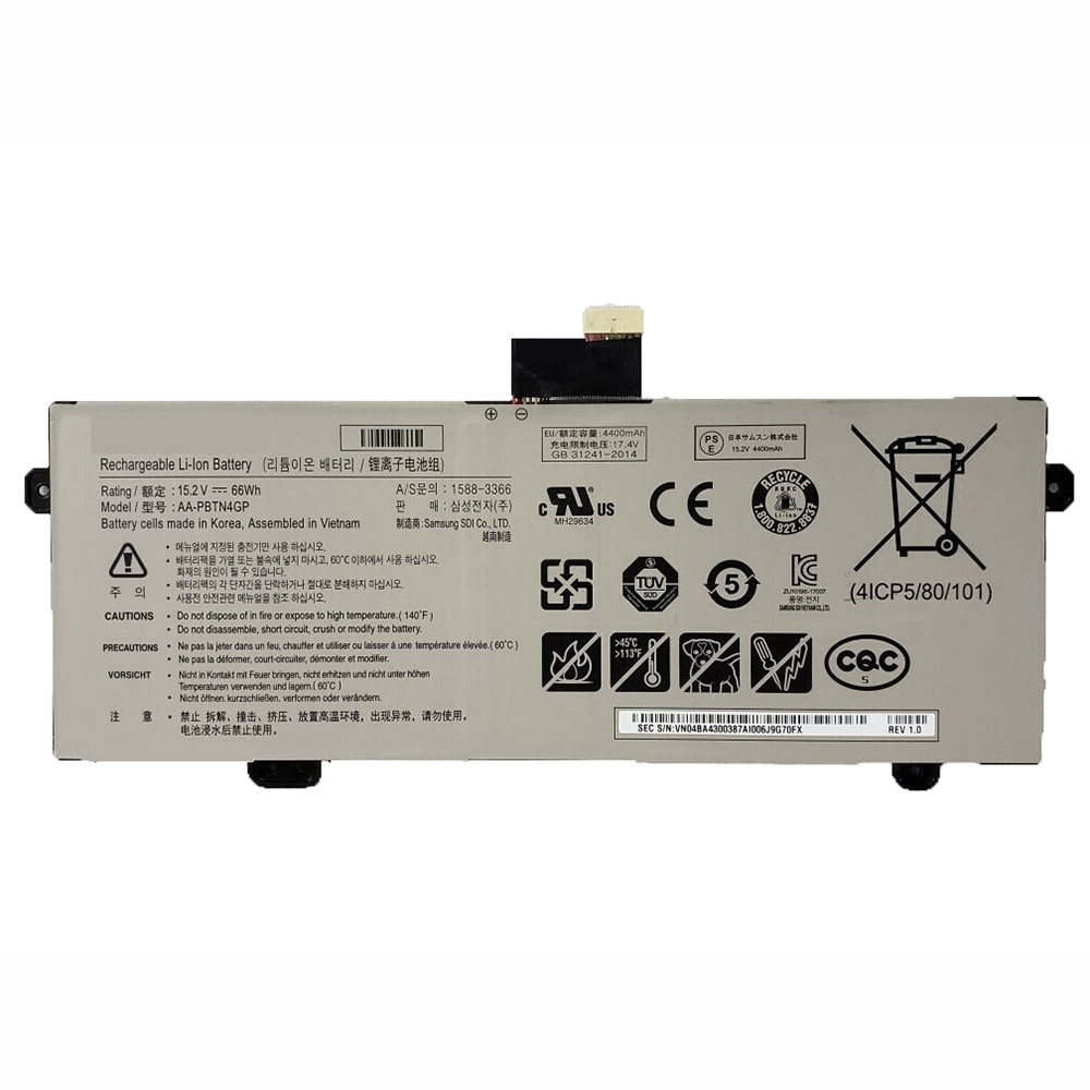 4400mAh/66WH 15.2V/17.4V AA-PBTN4GP Replacement Battery for Samsung NP800G5H-XS1US