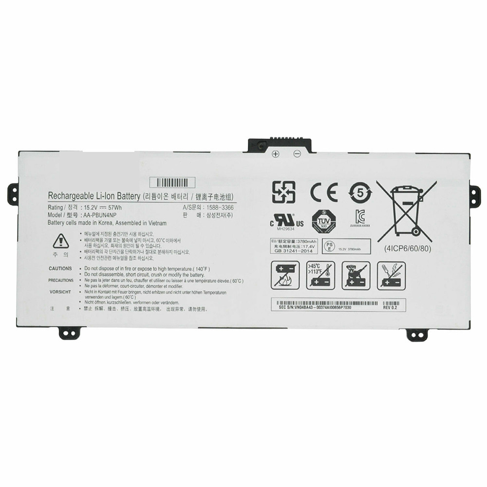 3780mAh/57WH 15.2V/17.4V AA-PBUN4NP Replacement Battery for Samsung NP940Z5L NP940Z5L-X01US BA43-00374A