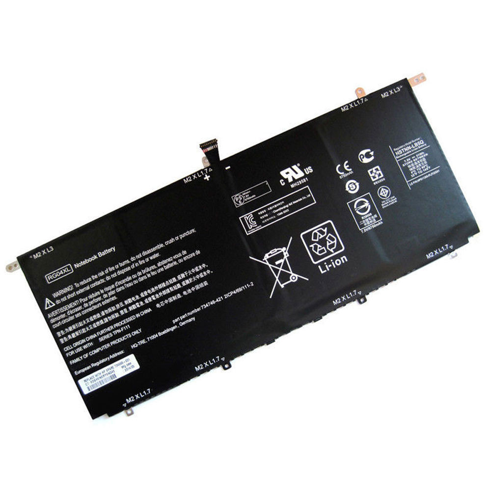 51Wh 7.4V RG04XL Replacement Battery for HP Spectre 13-3000 13t-3000 series