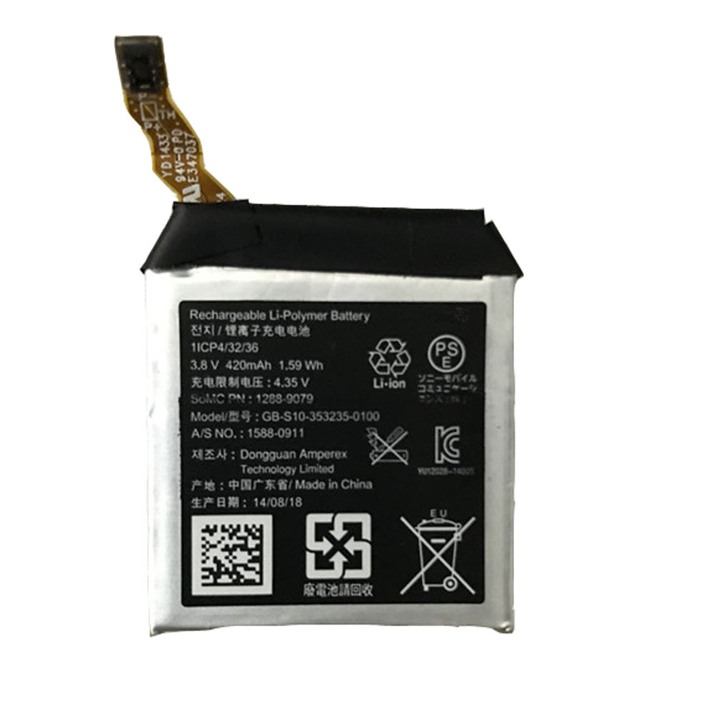 1.59Wh/420 mAh 3.8V GB-S10-353235-0100 Replacement Battery for Sony SmartWatch 3 SWR50