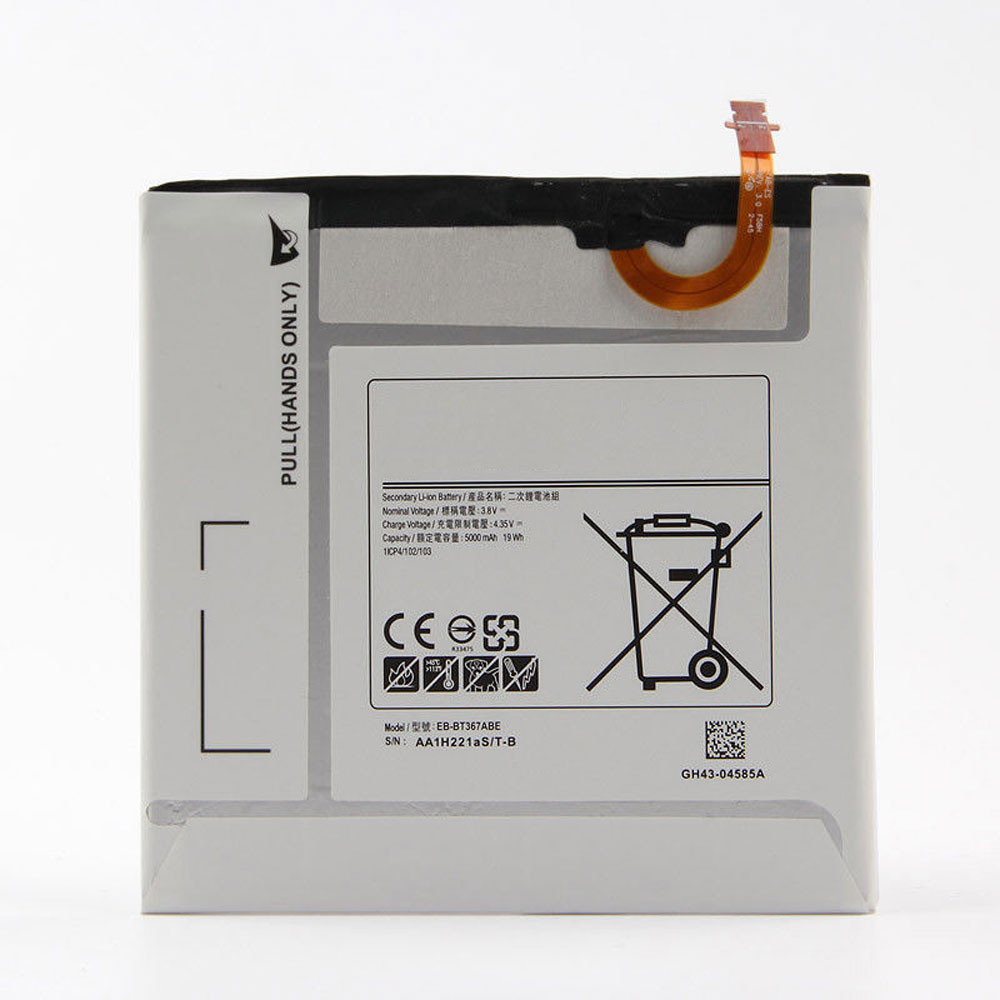 5000MAH/19Wh 3.8V/4.35V EB-BT367ABA Replacement Battery for Samsung Galaxy Tab A2S 8.0 T385 T380
