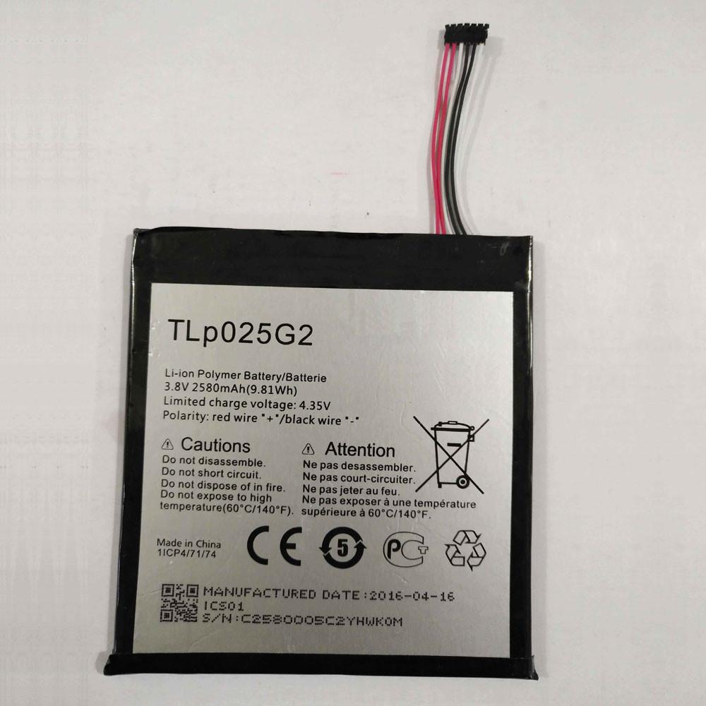 2580MAH/9.8Wh 3.8V/4.35V TLp025G2 Replacement Battery for ALCATEL OT- 9001A OT- 9001X OT-8050D OT-9003A OT-9003X