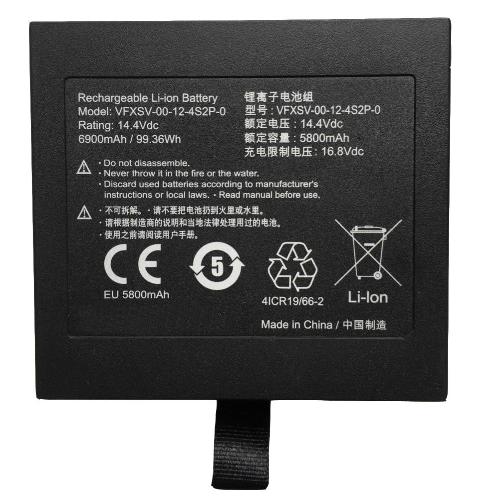 5800MAH 14.4V VFXSV-00-12-4S2P-0 Replacement Battery for GETAC GALLERIA VR WEAR VFXSV-0