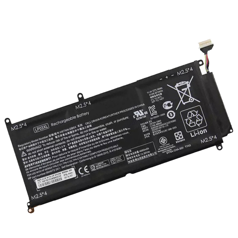 55.5Wh/4680mAh HP ENVY 15T-AE 15T-AE000 15-AE020TX Replacement Battery LP03XL 11.4V