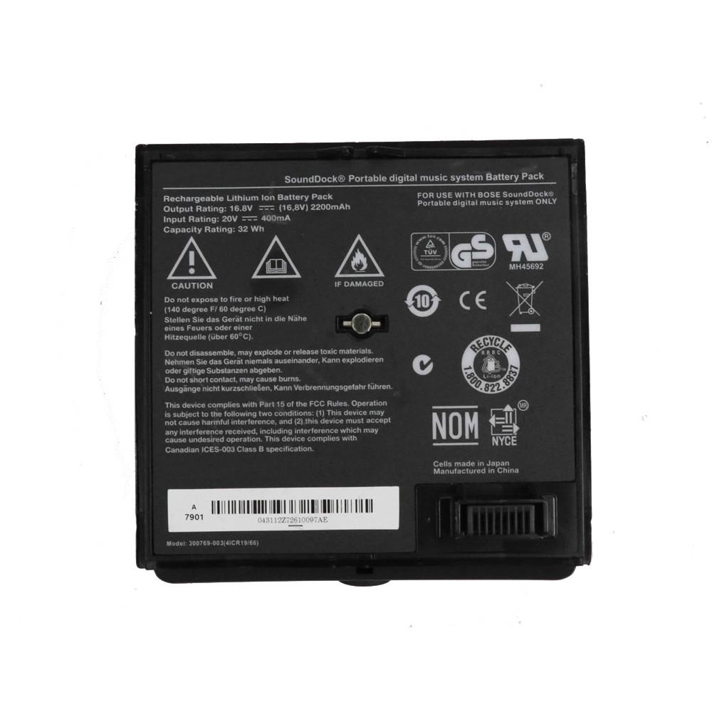 300769-003 Battery 400mA/2200mAH/32Wh 16.8V/20V Pack for Bose Sounddock Portable Digital Music System Battery Pack