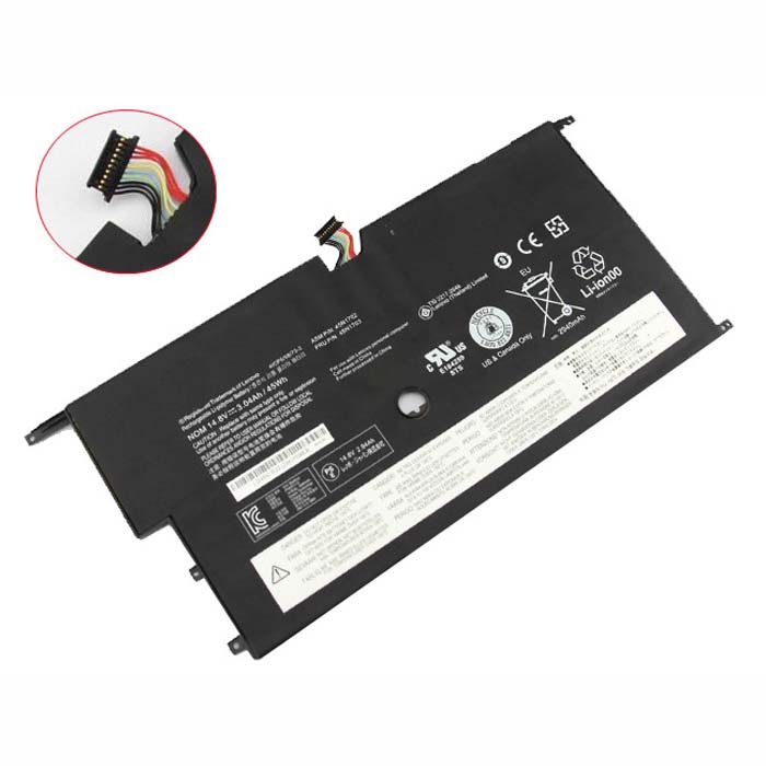 3.04AH/45WH Lenovo ThinkPad New X1 Carbon 14 Series Replacement Battery 45N1702 45N1703 14.8V