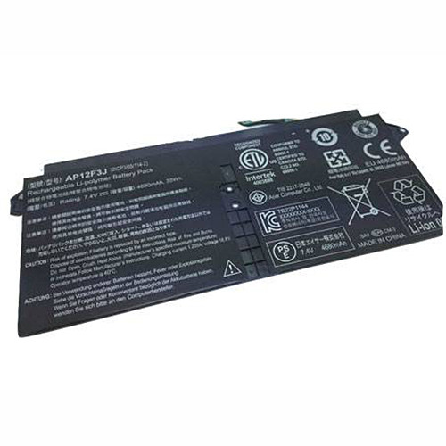 4680mAh / 35Wh ACER Aspire S7 Ultrabook(13-inch) Series Replacement Battery AP12F3J 7.4v