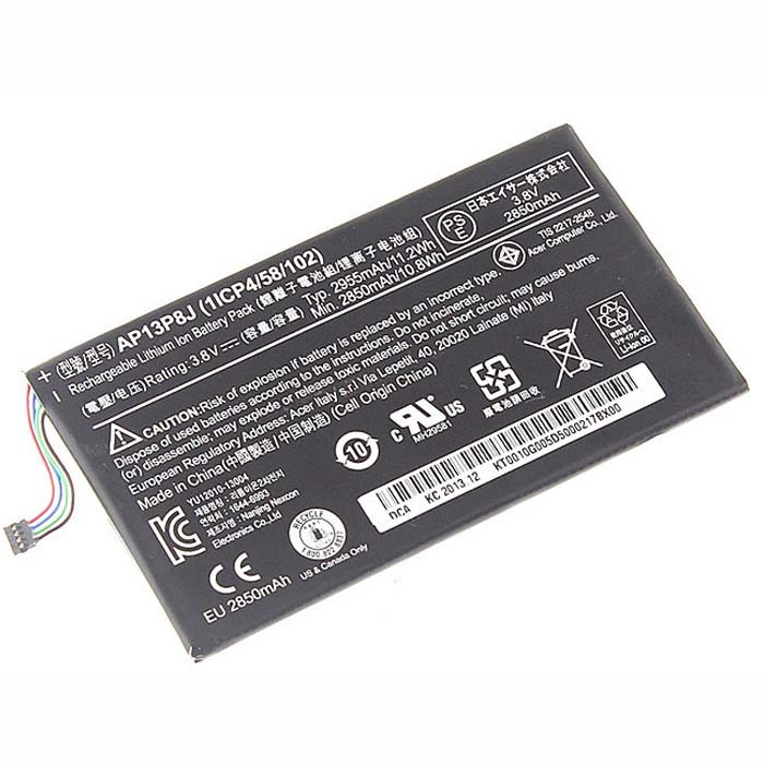 2955mah(11.2Wh) Acer Iconia Tab B1-720 Tablet Battery (1ICP4/58/102) Replacement Battery AP13P8J 3.8V