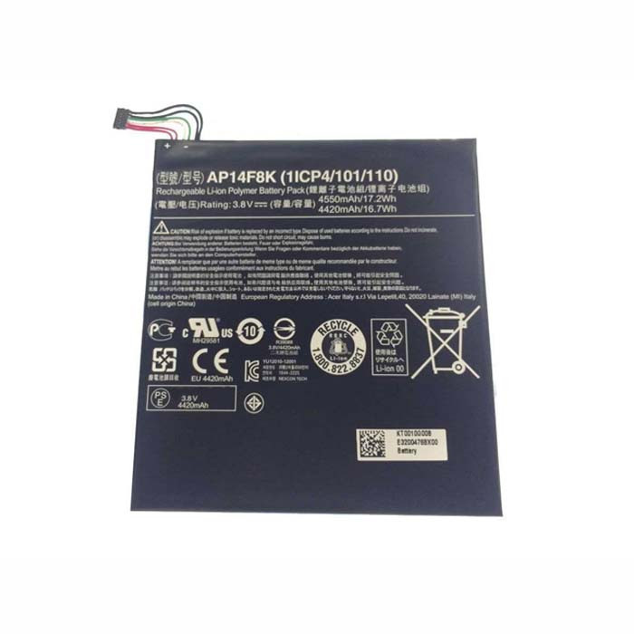 4550mAh/17.2Wh Acer Iconia Tab A1-850 B1-810 B1-820 W1-810 Replacement Battery AP14F8K 3.8V