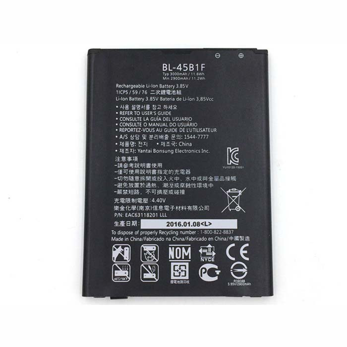 3000mAh LG V10 H961N F600 H968  Replacement Battery BL-45B1F 3.8V
