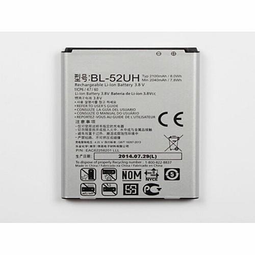 2040mah/2100mah/7.8Wh/8.0Wh LG L65 D285 VS876 BL52UH Lucid 3 Replacement Battery BL-52UH  3.8V