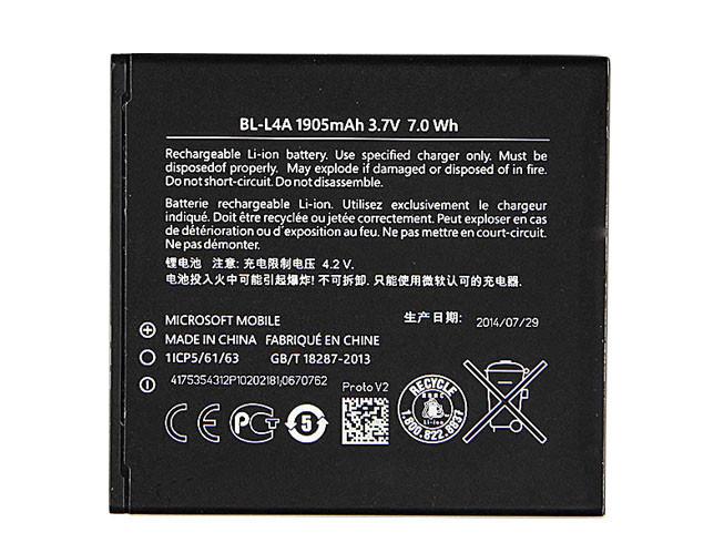 7.0wH/1905mah Microsoft Lumia 535 Internal RM-1090 RM1089 NOKIA  Replacement Battery BL-L4A 3.7V