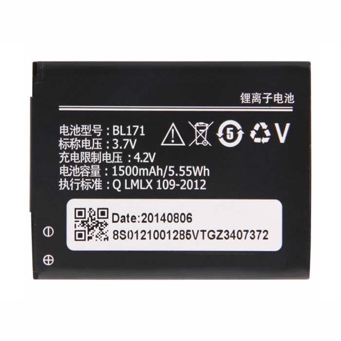 1500mah/5.55wh Lenovo A60  A65  A500  A356  A376  A390  A390T  A370E Replacement Battery BL171 3.7V