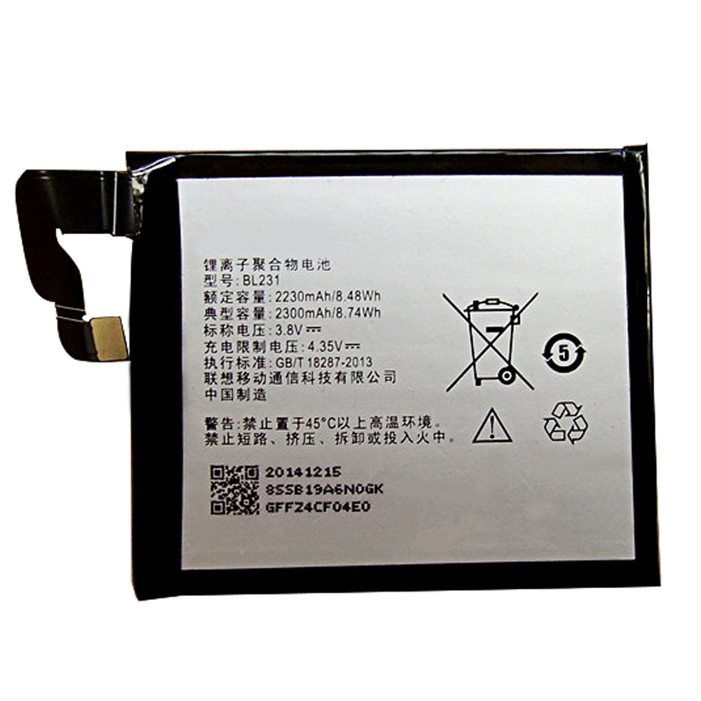 3000mah Lenovo Vibe X2 X2-TO X2-CU Replacement Battery BL231 3.8V/4.35V