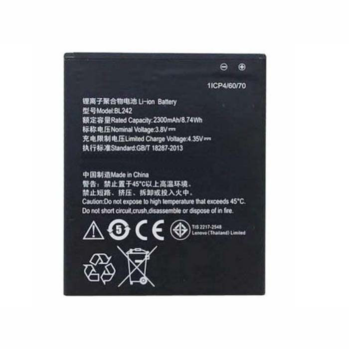 2300mAh/8.74WH Lenovo A3580 A3860 A3900 A3690 2300MAh Replacement Battery BL242 4.35V