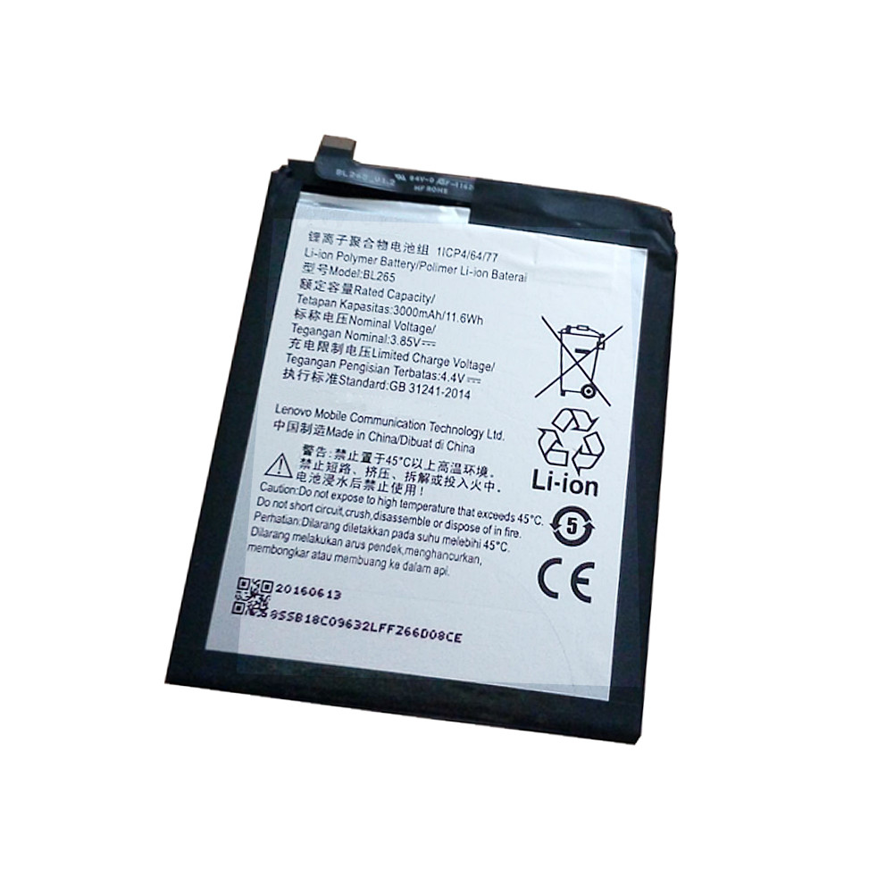 3000mAh/11.6wh Motorola XT1662 Replacement Battery BL265 3.8V/4.4V