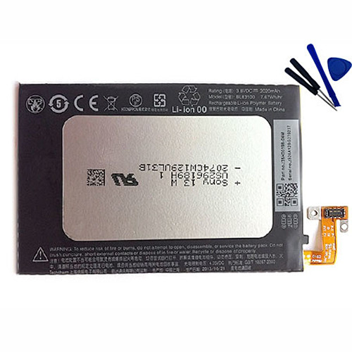 2020mAh HTC Droid DNA ADR643 Replacement Battery BL83100 3.8V