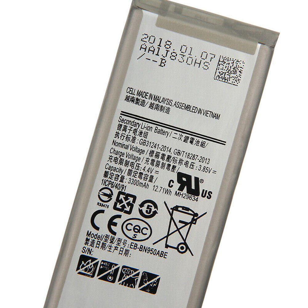 3300mAh/12.71WH 3.85V/4.4V EB-BN950ABE Replacement Battery for Samsung Galaxy Note8 Note 8 N9500 N9508 Project Baikal