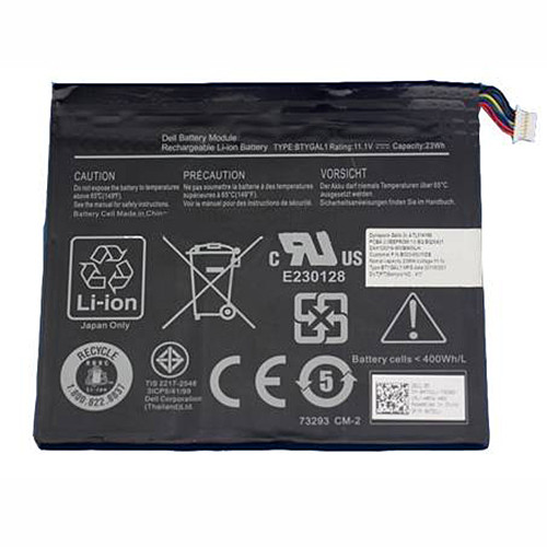 23WH DELL BTYGAL1 TO3G 0KGNX1 Replacement Battery BTYGAL1 TO3G 0KGNX1 11.1V