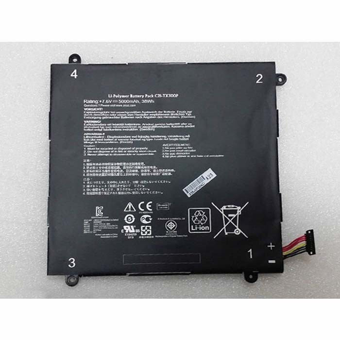 38wh/5000mah Asus Transformer Book Replacement Battery C21-TX300P 7.6v