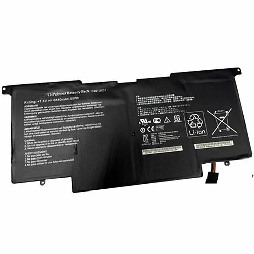 6840mAh ASUS UX31 UX31E Ultrabook Series Replacement Battery C22-UX31 7.4V