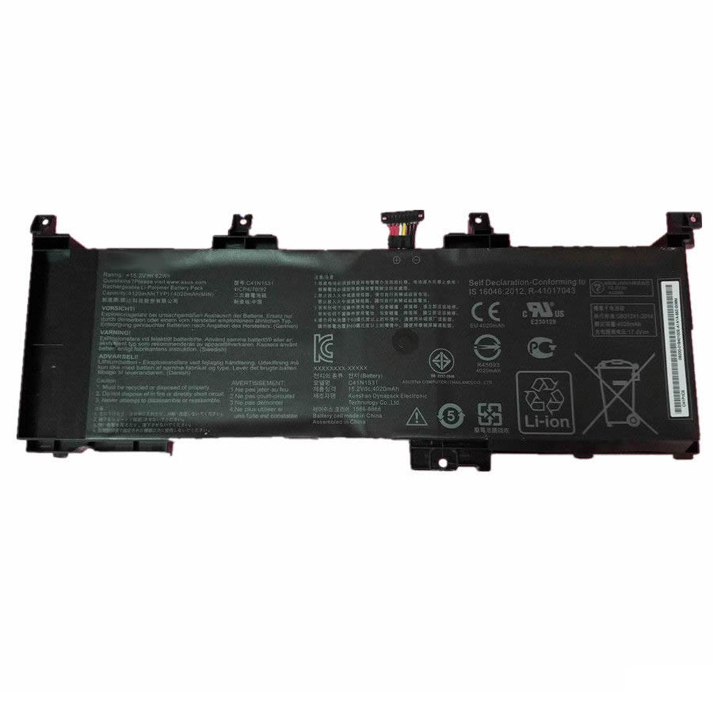 62Wh ASUS GL502VS-1A GL502VY-DS71 ROG GL502VS series Replacement Battery C41N1531 15.2V