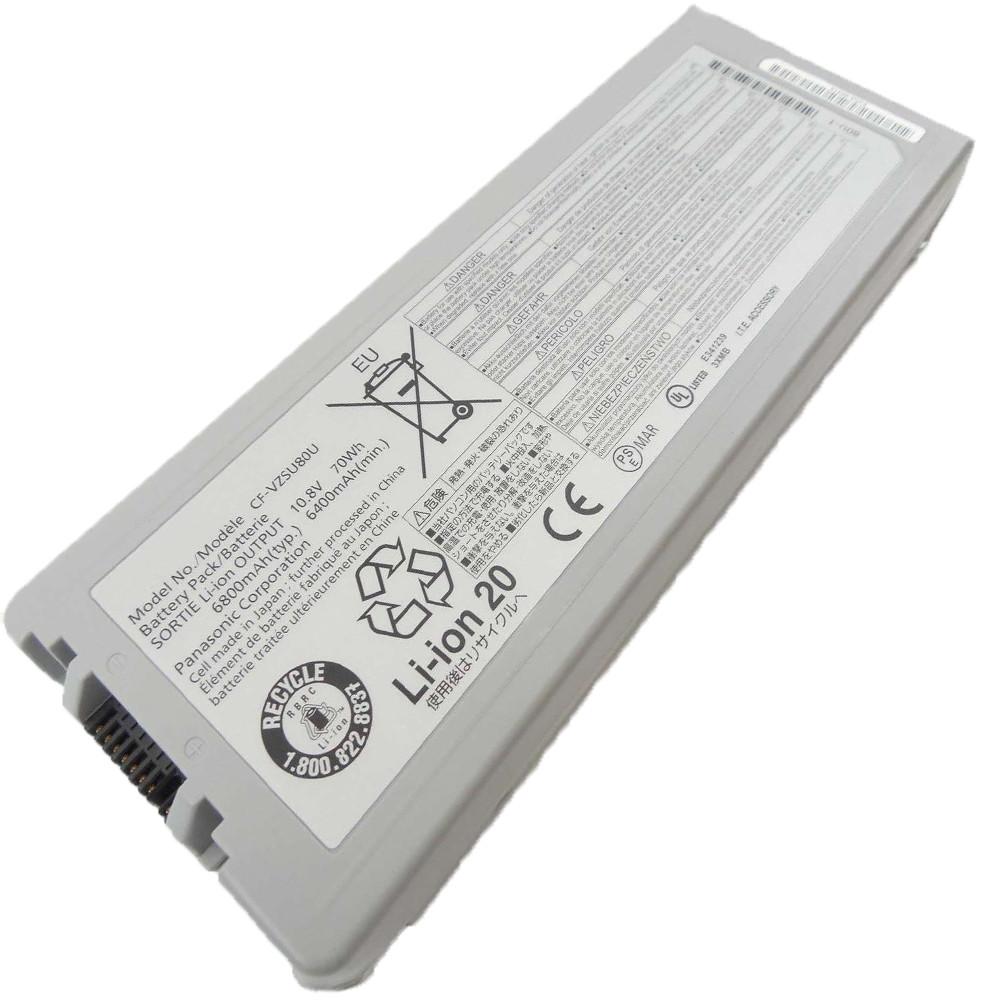 640MAh/70Wh Panasonic  CF-C2 MK1 Toughbook Standard Replacement Battery CF-VZSU80U 10.8V