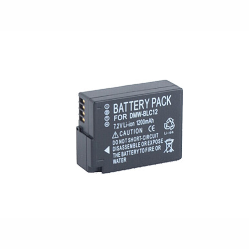 1200mah Panasonic Lumix DMC FZ200 Lumix DMC G6 G5 GH2 Replacement Battery DMW-BLC12 7.2V