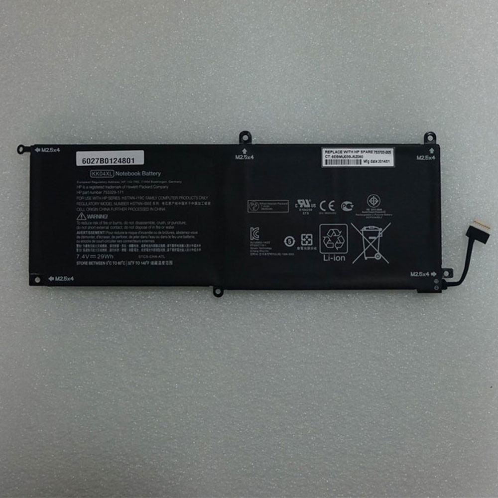 29Wh 7.4V KK04XL Replacement Battery for HP Pro x2 612 G1 Tablet 753703-005